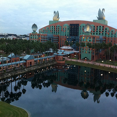 View of the Walt Disney World Swan From the Dolphin Hotel