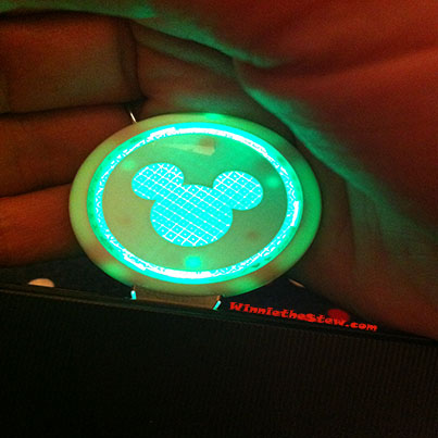 The flash drive lights up!