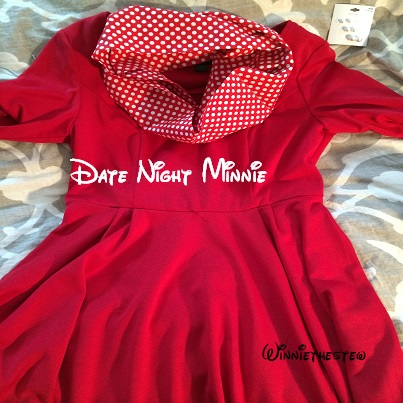 Minnie Mouse date night look.
