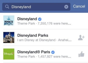 Official Disney Facebook pages have a blue check that confirms it is a company sponsored page.